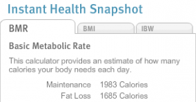 Calculate Your BMR and Calories